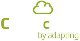 logo cbox cloud by adapting (blanco)